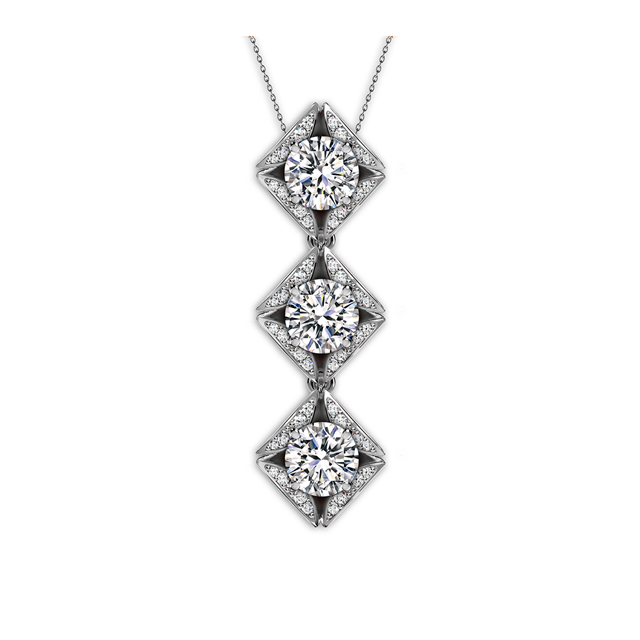 Forevermark Eternal Collection™ Trilogy Pave Pendant