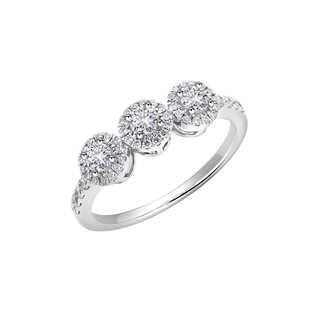 Amalianta亲卿系列多颗美钻18K 白金戒指