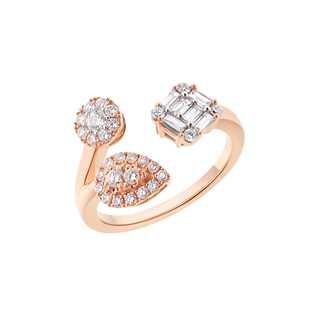 FLEUR盛茉系列美钻密镶款18K 玫瑰金戒指