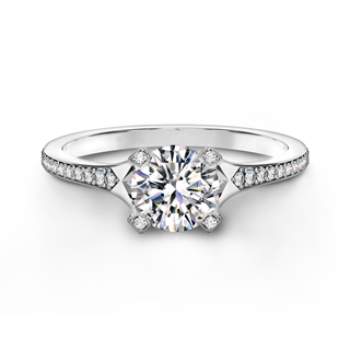 Cornerstones® Pavé Solitaire Ring