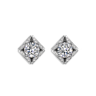 Forevermark Eternal Collection™ Solitaire Pave Earrings