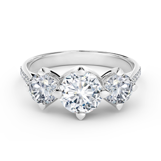 Forevermark Setting® Three Diamonds Pavé Ring