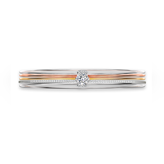 Millemoi™ Solitaire Pavé Bangle