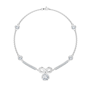 Endlea™ Collection Solitaire Pavé Bracelet with smaller diamonds