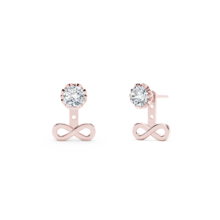Endlea™ Collection Rose Gold Solitaire Earrings