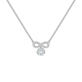 Endlea™ Collection Solitaire Pavé Necklace