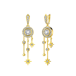 Halo Tassels Earrings