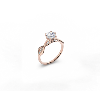 Solitaire Pavé 6 Prongs Ring