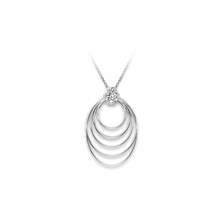 Millemoi® Solitaire Long Circle Pendant
